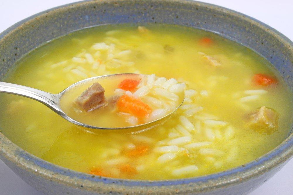 Как варить суп риса